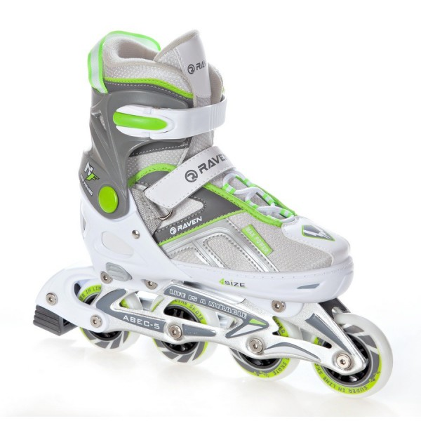 Rolki Raven Pulse White/Green