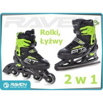 Rolki Łyżwy 2w1 RAVEN Profession Black/Green