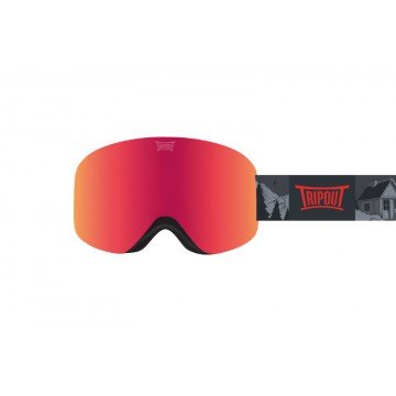 Gogle Tripout Optics Racer Fresh Orange + Szyba Clear