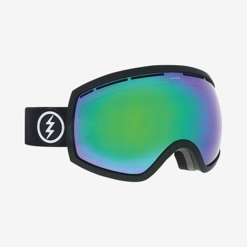 Gogle Electric EG2 Mate Black Brose/Green Chrome